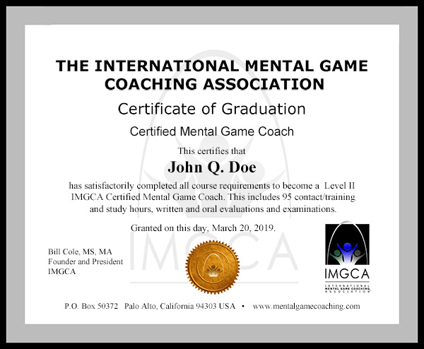 Imgca certification training graduation certificate yadclub Images